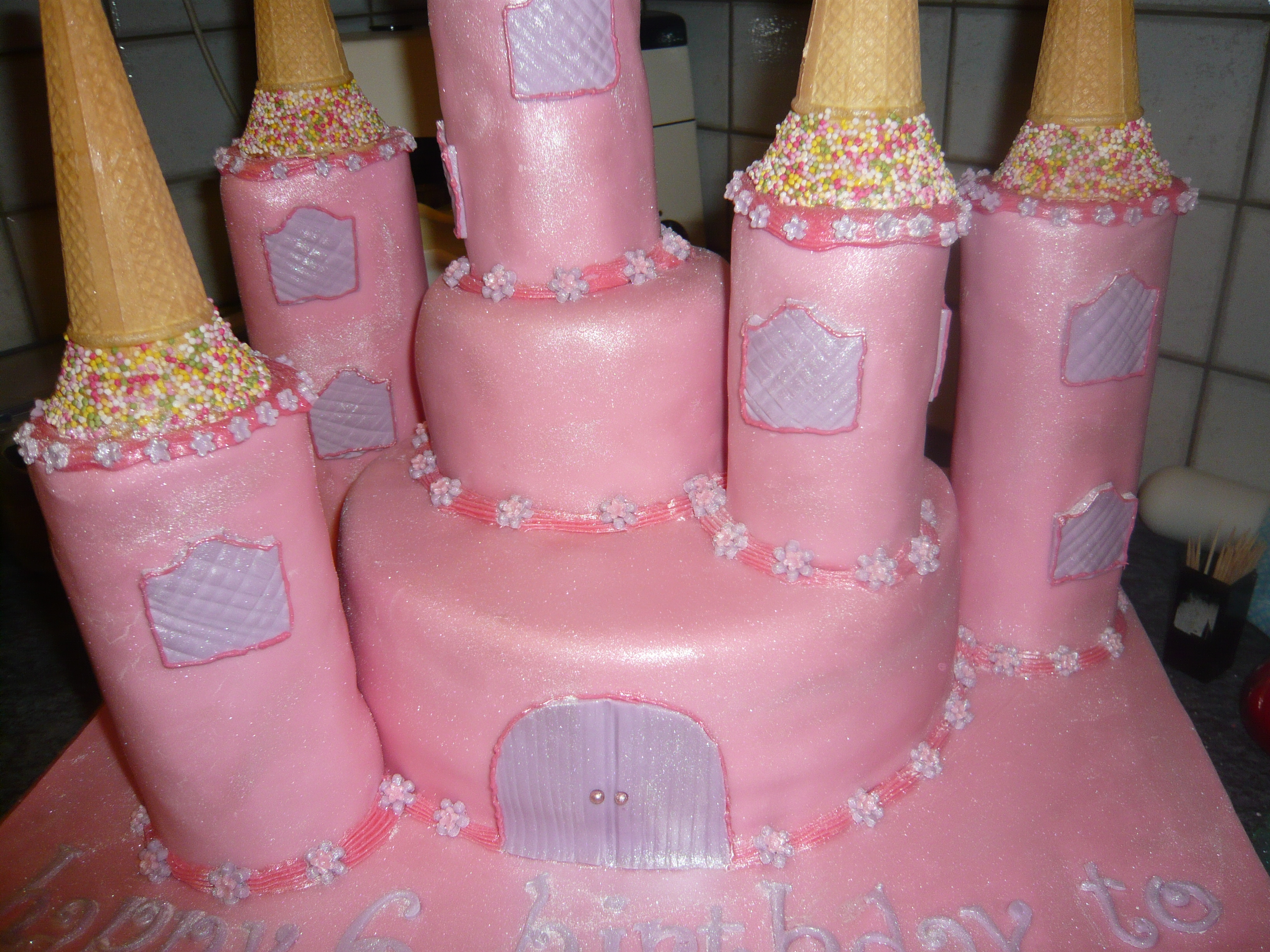 Pink Princess Castle Birthday Cake For A Special Birthday Girl