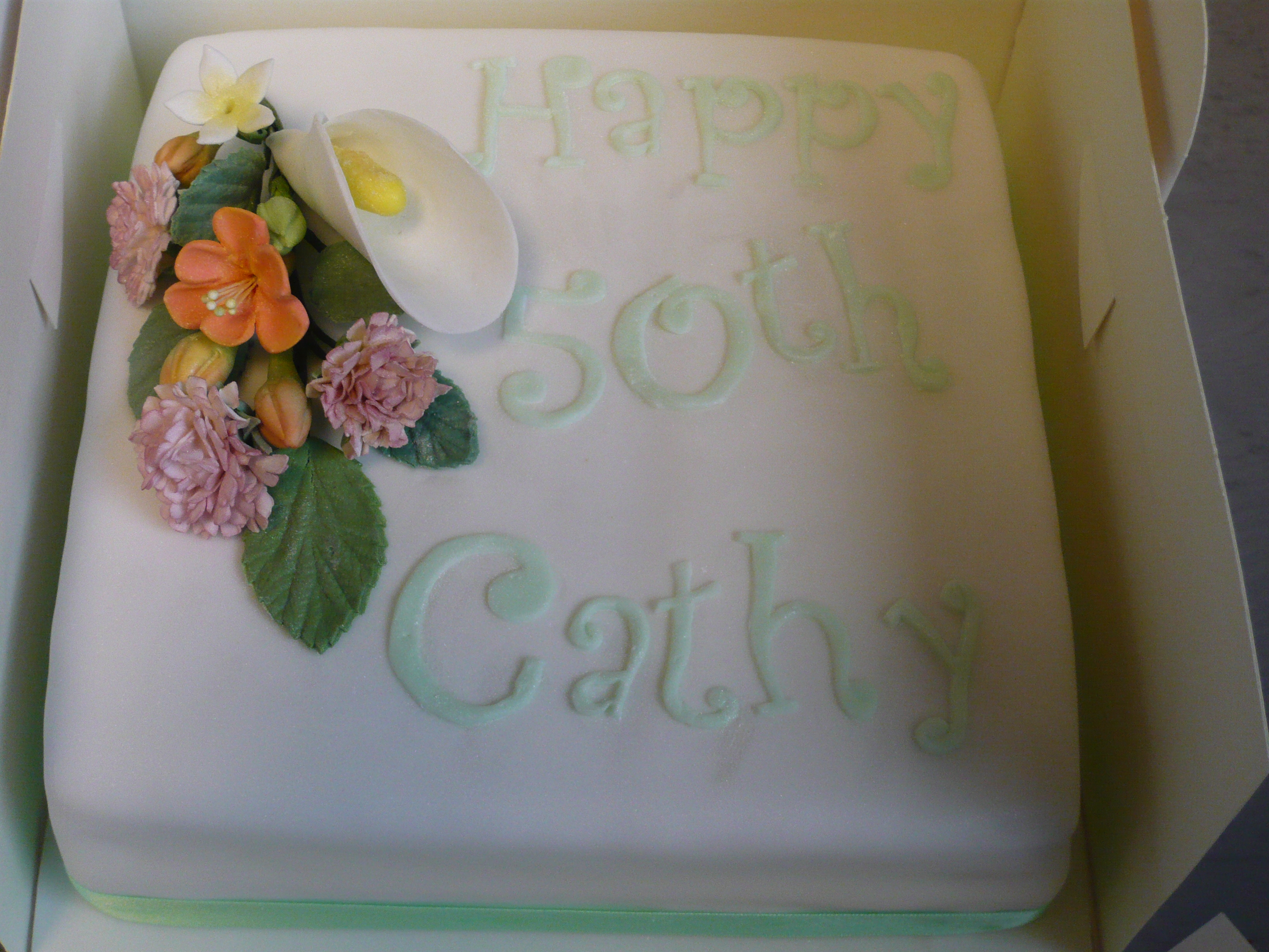 Flowers cake for Cathys birthday Hours of Fun