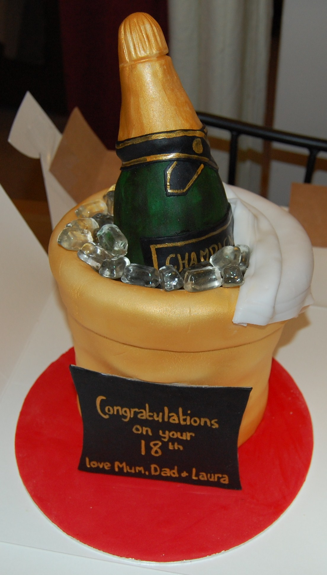 Make Hennessy Bottle Cake