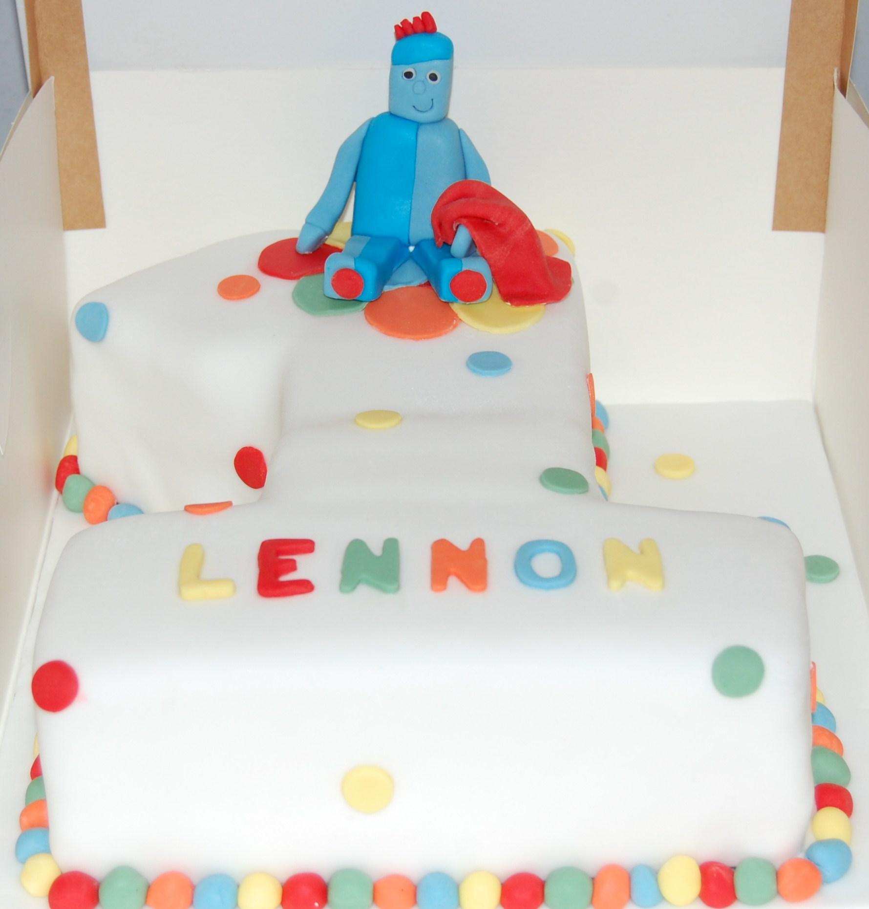 Igglepiggle Number 1 Shaped In the Night Garden Cake for a special