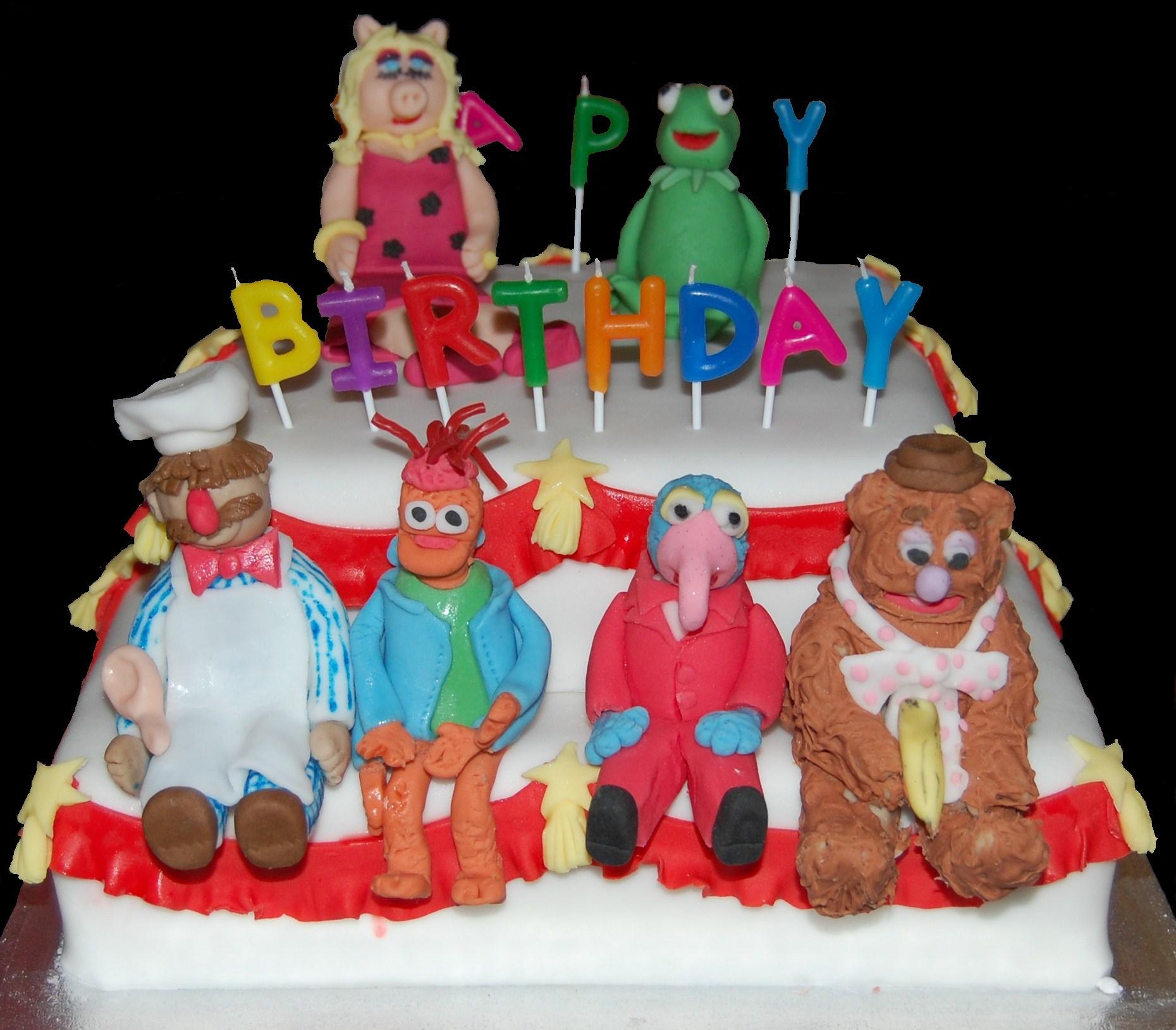 Astounding Muppets Birthday Cake With Kermit Miss Piggy Gonzo Fozzie Bear Funny Birthday Cards Online Sheoxdamsfinfo
