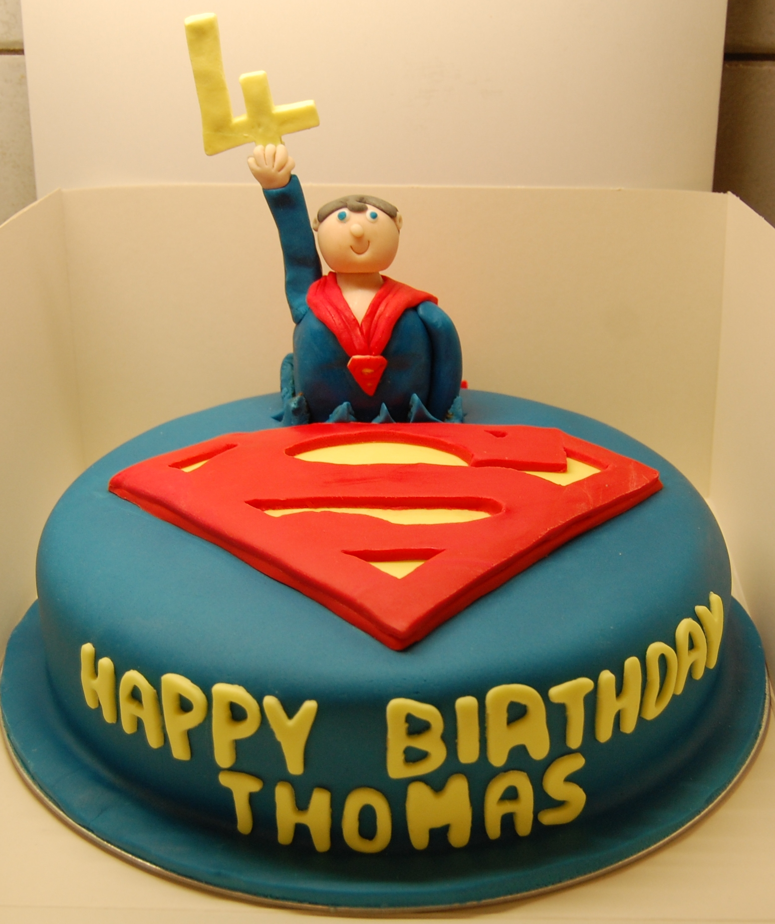 Fantastic Superman Birthday Cake For A 4 Year Old Challenge Accepted I Funny Birthday Cards Online Sheoxdamsfinfo