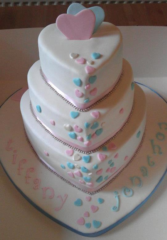 Blue Heart Wedding Cakes Heart 3 Tiered Wedding Cake