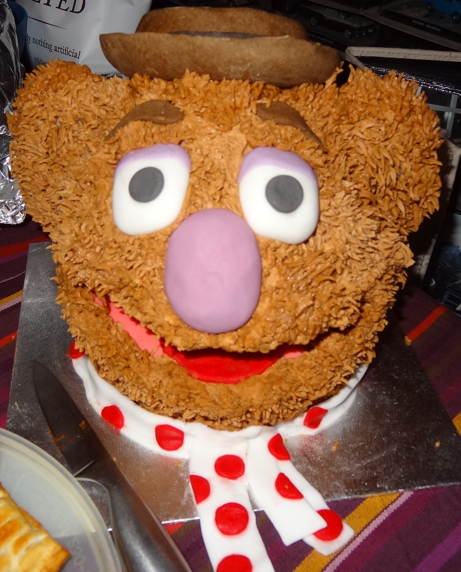 Fozzie Bear Birthday Cake from the girl that can turn a giant