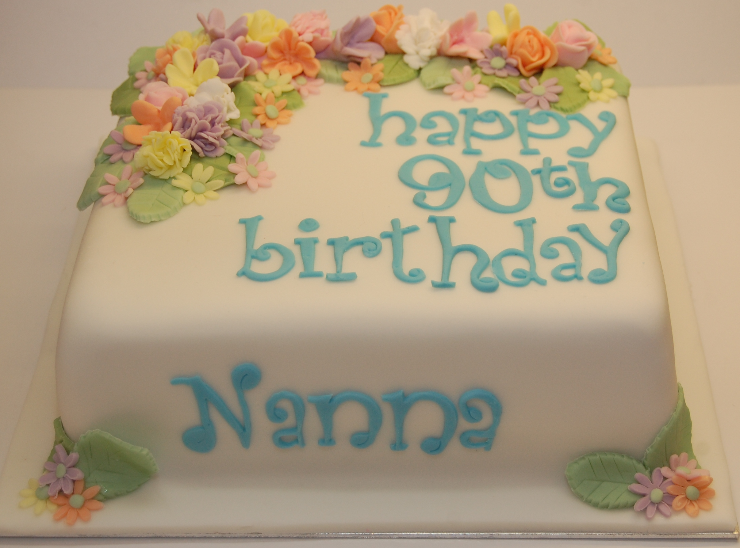 A very special cake to celebrate a very special 90th birthday happy birthday nan izmirmasajfo