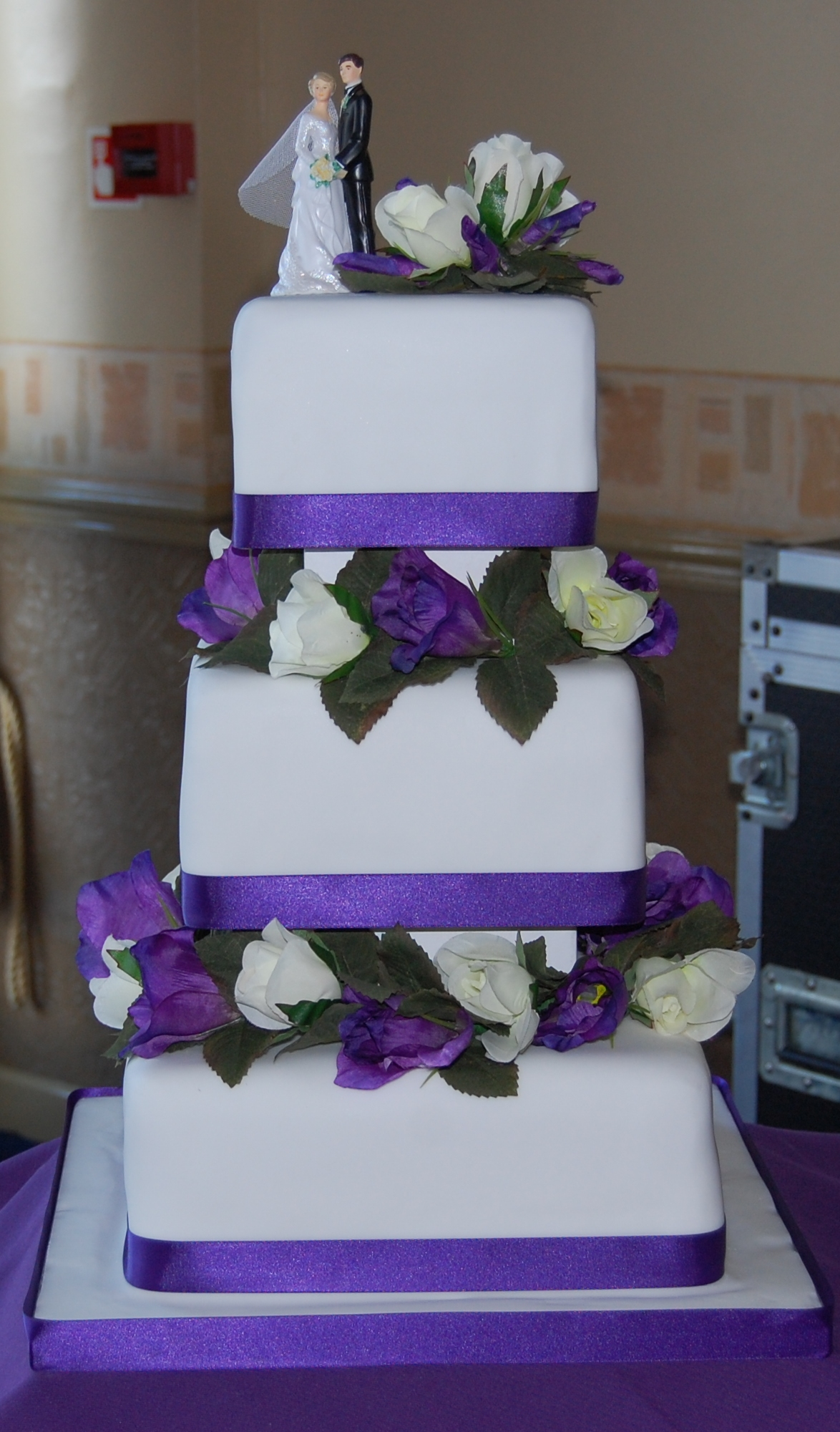 Cadbury Purple 3 Tier Wedding Cake Simple And Elegant Hours Of Fun - 3 Tier Wedding Cakes