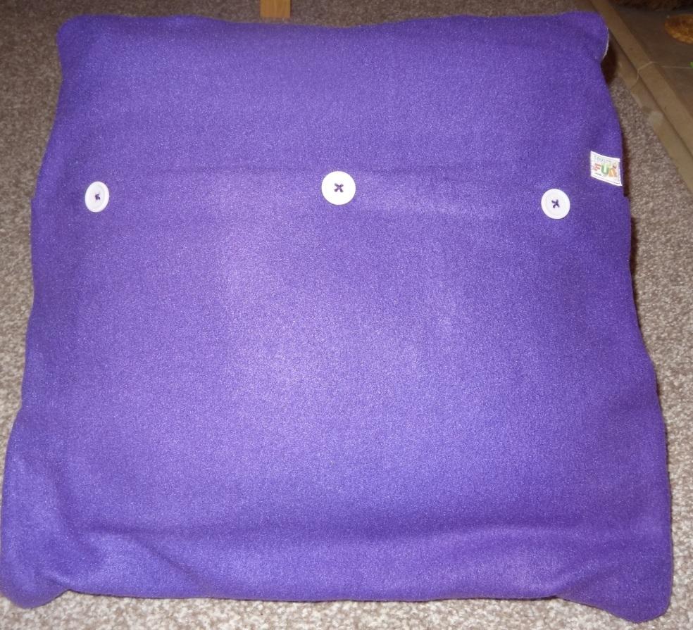 Lou lous handmade fleece cushion take 2 no felt the back