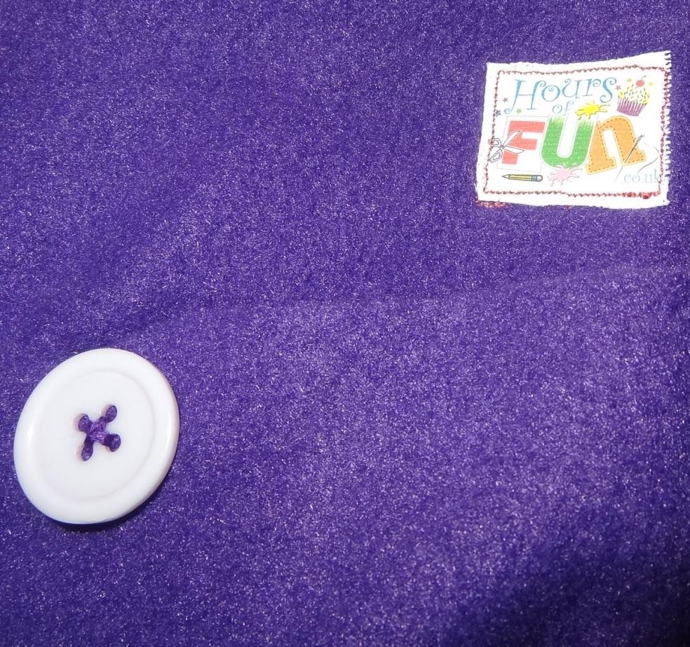 Lou lous handmade fleece cushion take 2 no felt close up of HoF label