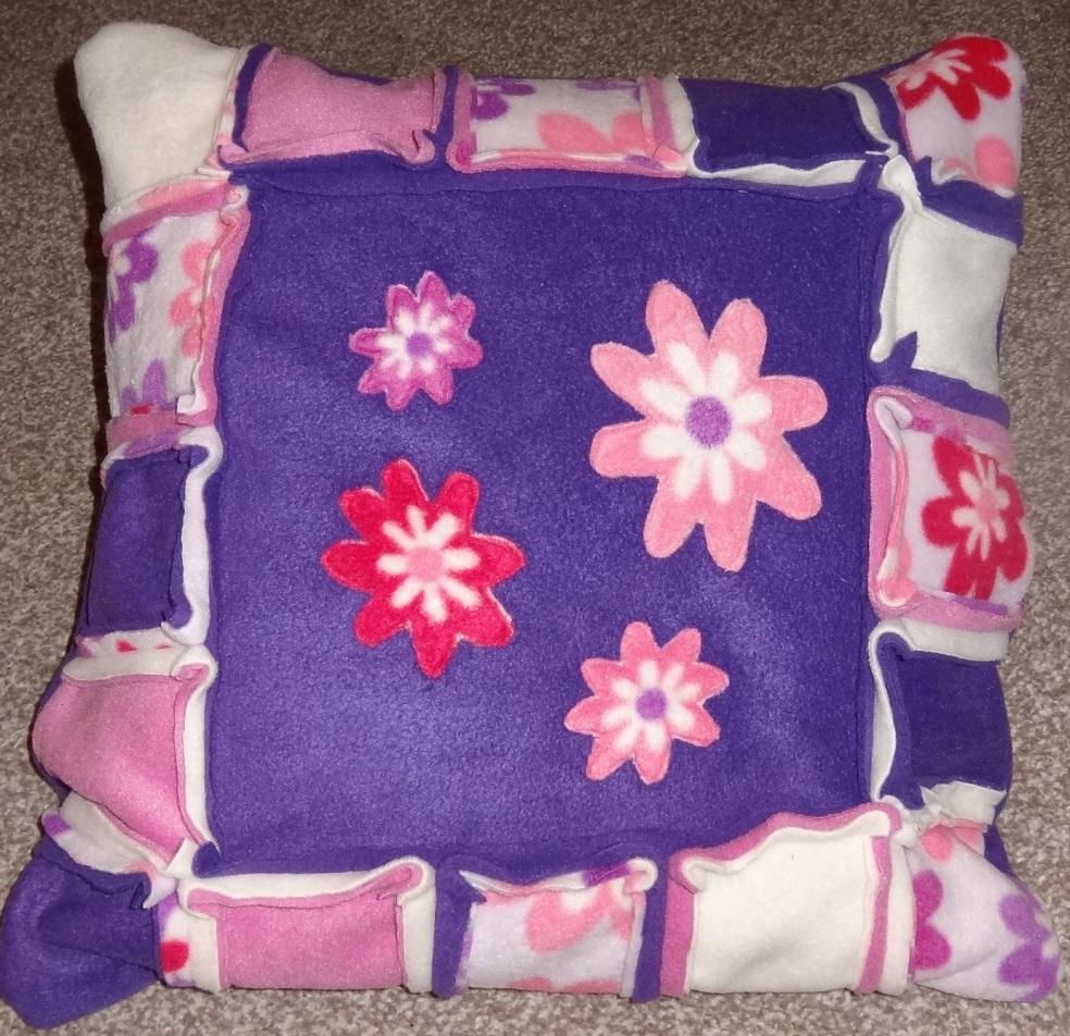Lou lous handmade fleece cushion take 2 no felt