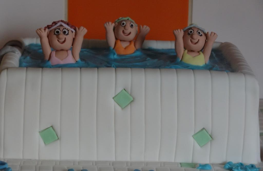 Aqua aerobics 70th birthday cake (4)