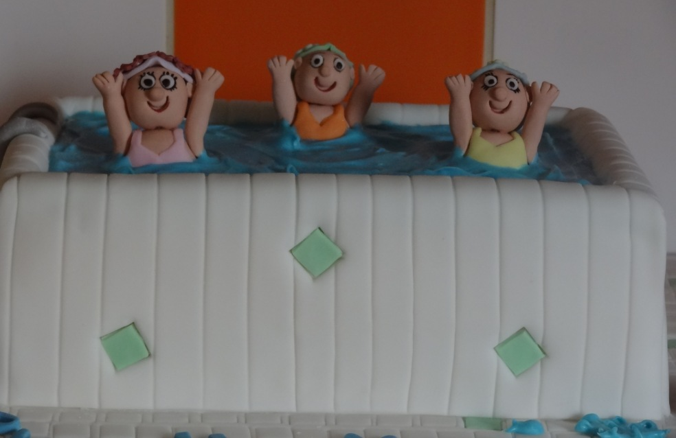 Aqua aerobics 70th birthday cake (4)