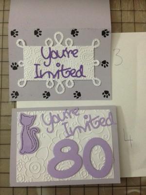 handmade 80th birthday party cat invites (2)