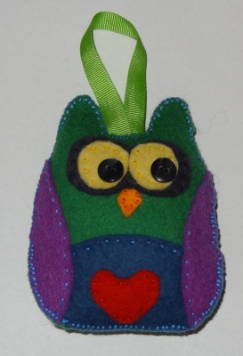Felt lavender owl hours of fun homemade (2)