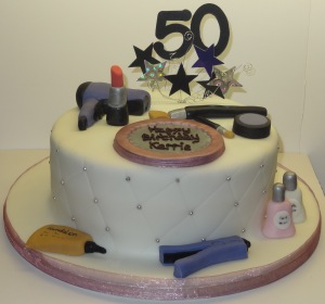 50th birthday hair and make up cake (5)