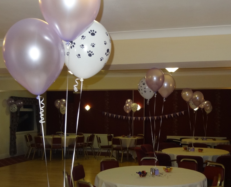 80th birthday party venue decorations