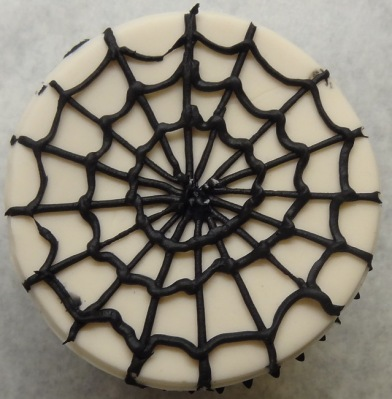 Spiders web cupcake