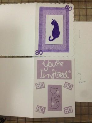 handmade 80th birthday party cat invites (1)
