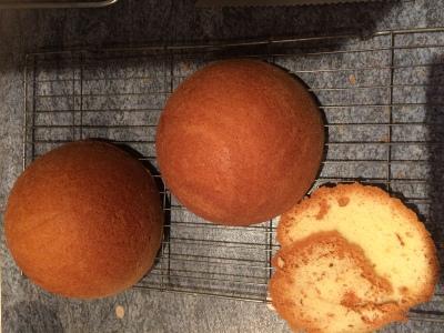 Ball cake tin cake