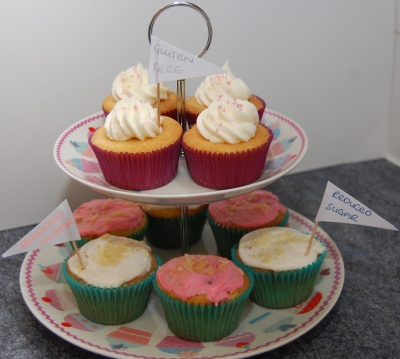 Gluten free and reduced sugar cupcakes