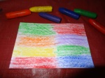 Step 1 wax crayon picture