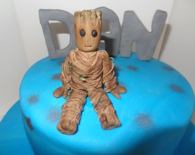 I am groot guardians of the galaxy birthday cake (1)