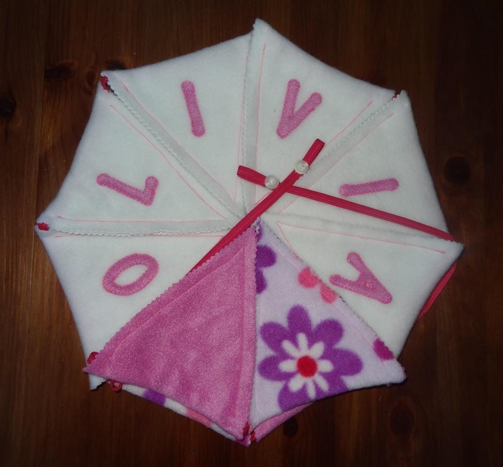 Handmade bunting pink new baby girl (6)
