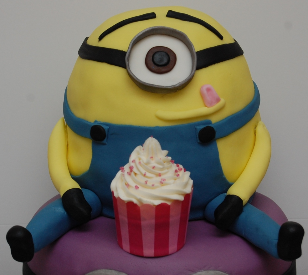 Minion with a cupcake!