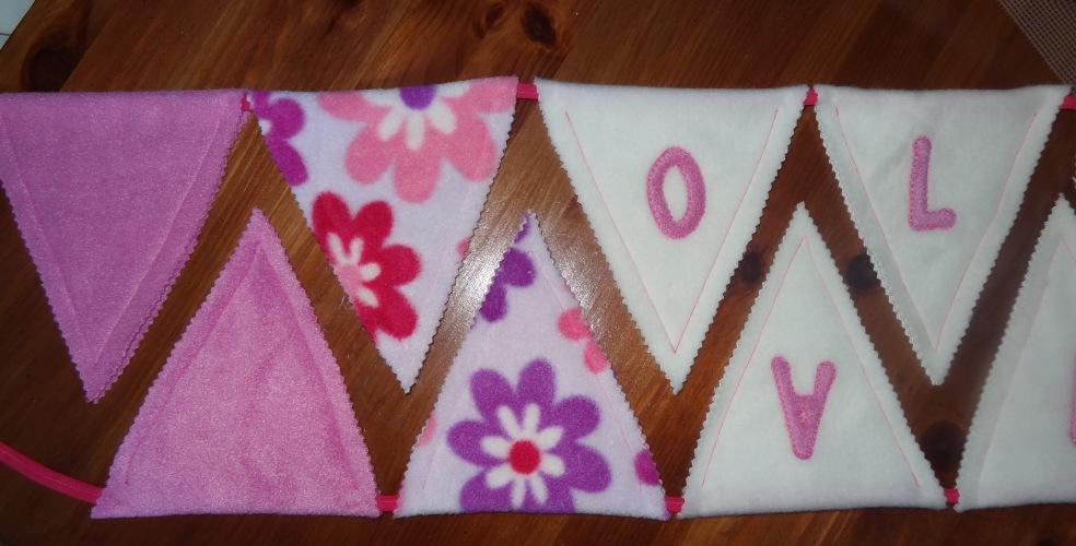 Handmade bunting pink new baby girl (4)